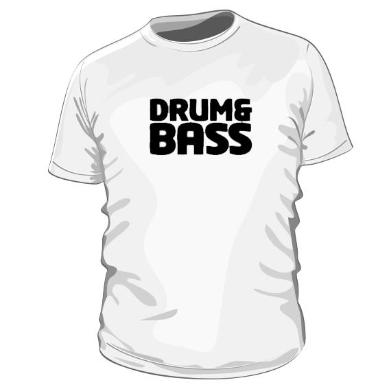 ad4f36b1d2ae Drum   Bass – pánske bavlnené tričko s potlačou – Teez.sk – štýlová ...