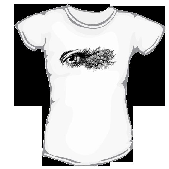 ed49d7a2ac1b Eye – dámske bavlnené tričko s potlačou – Teez.sk – štýlová kvalita ...